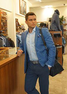 Голубые мужские пиджаки